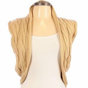 NWOT Wet Seal Cream Knit Sleeveless Open Vest